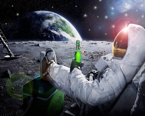 astronaut drinking miller lite beer on the moon - photo #14